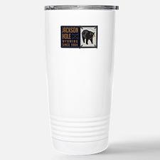 Jackson Hole Black Bear Badge Travel Mug