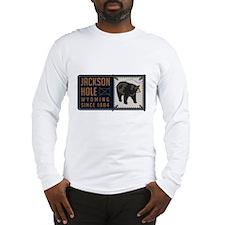 Jackson Hole Black Bear Badge Long Sleeve T-Shirt