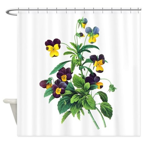 redoute botanical shower curtain
