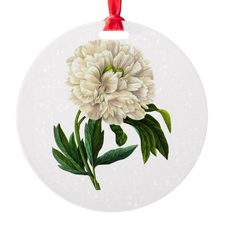Pierre-Joseph Redoute Botanical Round Ornament
