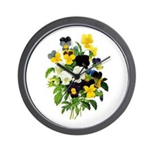 Pierre-Joseph Redoute Botanical Wall Clock