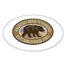 Jackson Hole Brown Bear Badge Decal