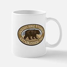 Jackson Hole Brown Bear Badge Mug