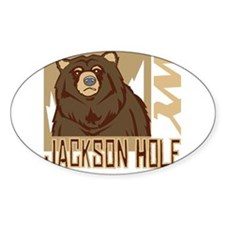 Jackson Hole Grumpy Grizzly Decal