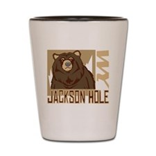 Jackson Hole Grumpy Grizzly Shot Glass