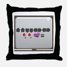 Up up down down Love 2 Player Throw Pillow