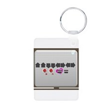 Up up down down Love 2 Player Keychains