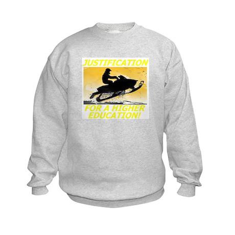 JUSTIFICATION FOR A HIGHER ED Kids Sweatshirt