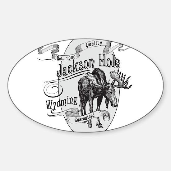 Jackson Hole Vintage Moose Sticker (Oval)