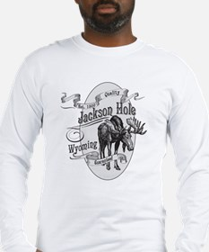 Jackson Hole Vintage Moose Long Sleeve T-Shirt