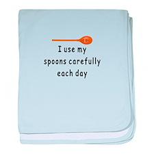 MS Spoons baby blanket