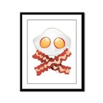 Skull and Bacon Framed Panel Print