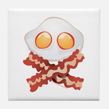 Skull and Bacon Tile Coaster