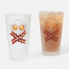 Skull and Bacon Drinking Glass