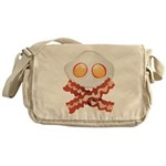 Skull and Bacon Messenger Bag