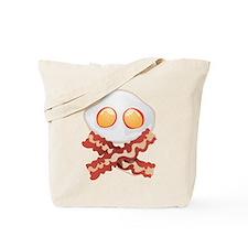 Skull and Bacon Tote Bag