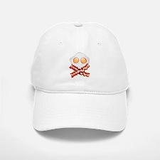 Skull and Bacon Baseball Baseball Cap