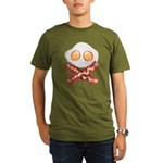 Skull and Bacon Organic Men's T-Shirt (dark)