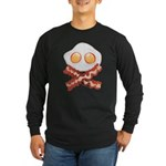 Skull and Bacon Long Sleeve Dark T-Shirt