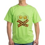Skull and Bacon Green T-Shirt