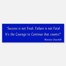 Churchill quote Bumper Bumper Bumper Sticker