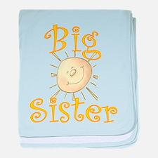 Big Sister Sunshine Smile baby blanket