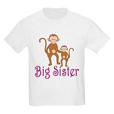 Big Sister Cute Monkeys T-Shirt
