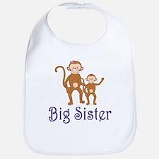 Big Sister Cute Monkeys 2 Bib