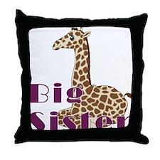 Big Sister Baby Giraffe Throw Pillow