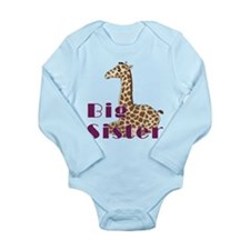 Big Sister Baby Giraffe Long Sleeve Infant Bodysui