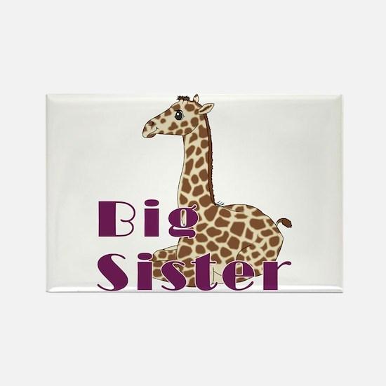 Big Sister Baby Giraffe Rectangle Magnet