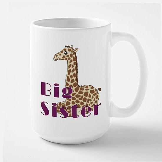Big Sister Baby Giraffe Large Mug