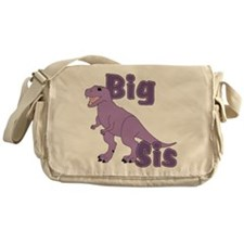 Big Sis Purple Dinosaur Messenger Bag