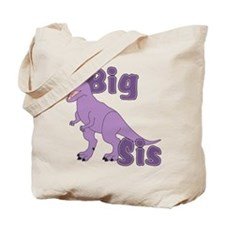 Big Sis Purple Dinosaur Tote Bag