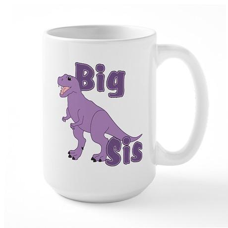 Big Sis Purple Dinosaur Large Mug