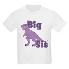 Big Sis Purple Dinosaur T-Shirt