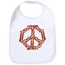 Peace with Bacon Bib