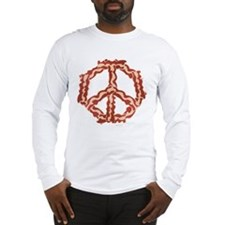 Peace with Bacon Long Sleeve T-Shirt