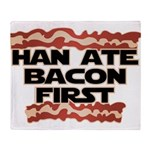 Han Ate Bacon First Throw Blanket