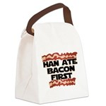 Han Ate Bacon First Canvas Lunch Bag
