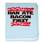 Han Ate Bacon First baby blanket