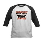 Han Ate Bacon First Kids Baseball Jersey
