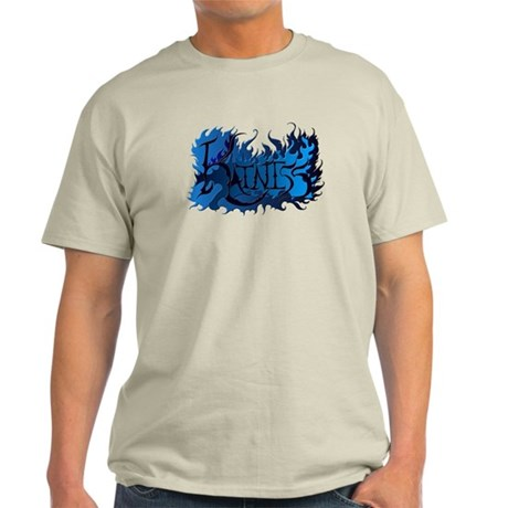 Katniss the Girl on Fire with Blue Flames Light T-
