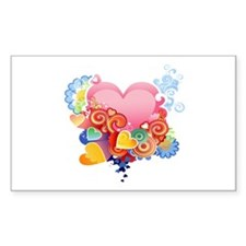 Retro heart love Decal