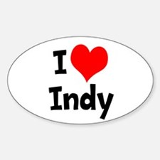 I Heart Indy 3 Decal