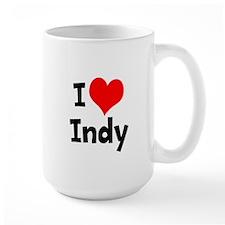 I Heart Indy 3 Mugs