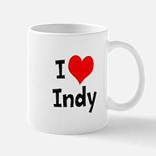 Cute I heart indy Mug