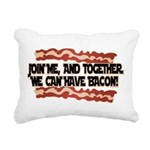 Together We Can Have Bacon Rectangular Canvas Pill