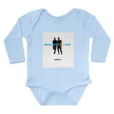 Jesus Loves All Love Long Sleeve Infant Bodysuit