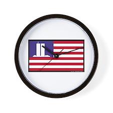 The WTC Memorial Flag Wall Clock